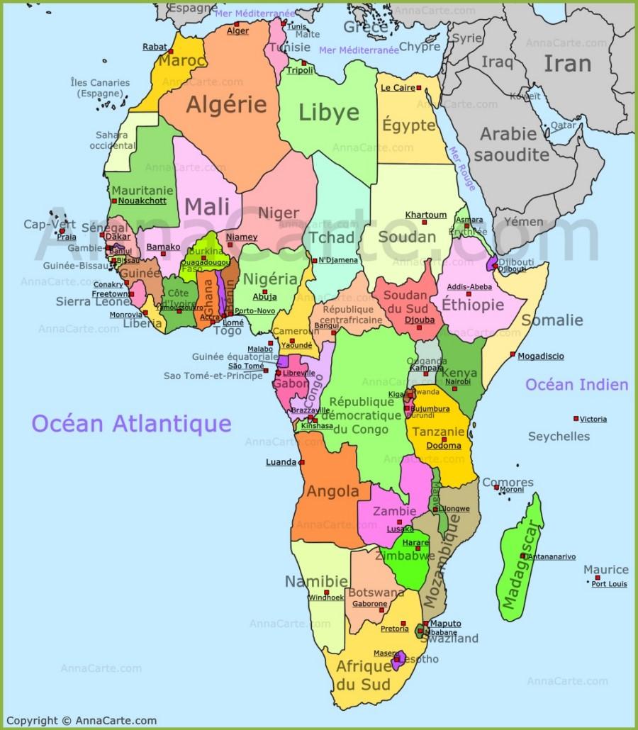 Carte de l'Afrique - AnnaCarte.com