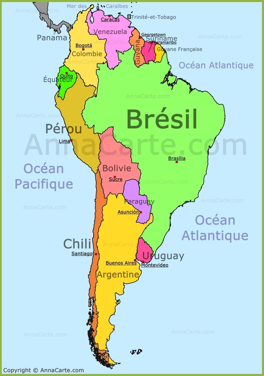 Relativ Amérique Du Sud Carte - AnnaCarte.com TY97