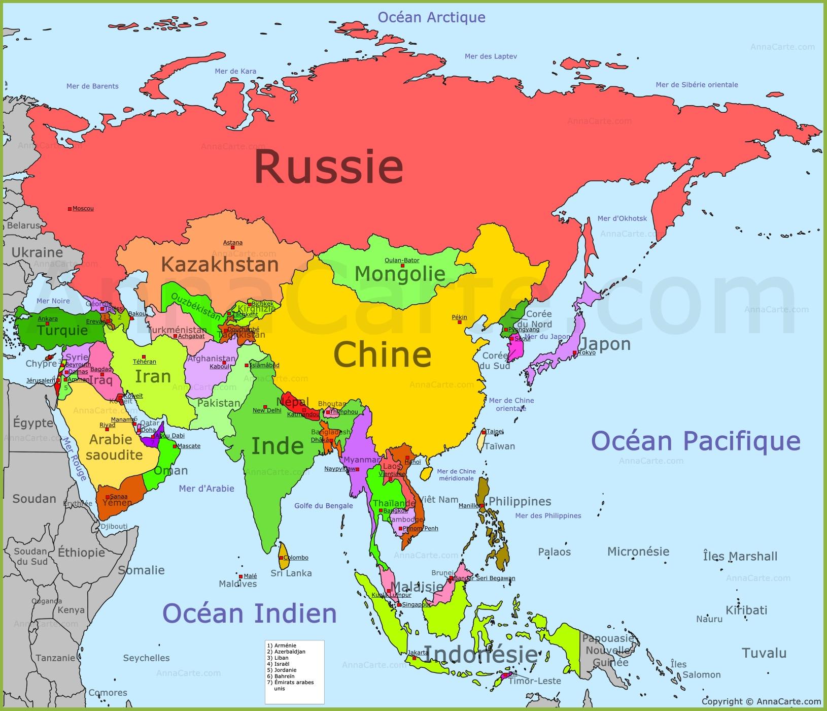 Carte De Lasie Et Oceanie.Cartes Asie Ronni Kaptanband Co