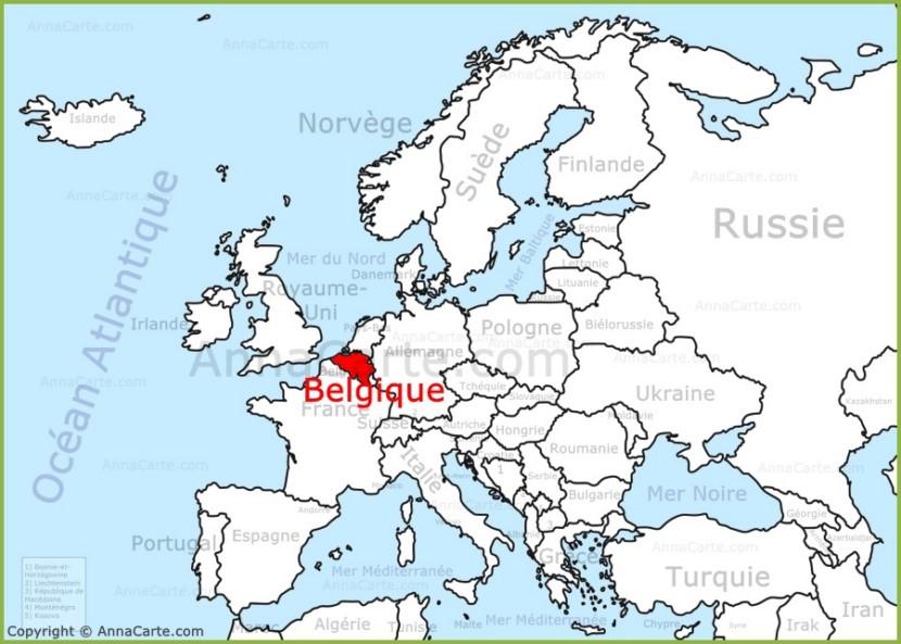 belgique sur la carte de l 39 europe. Black Bedroom Furniture Sets. Home Design Ideas
