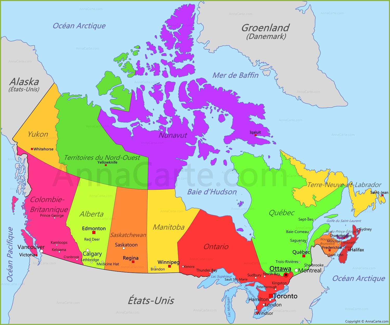Carte Canada Manitoba.Carte Canada Annacarte Com