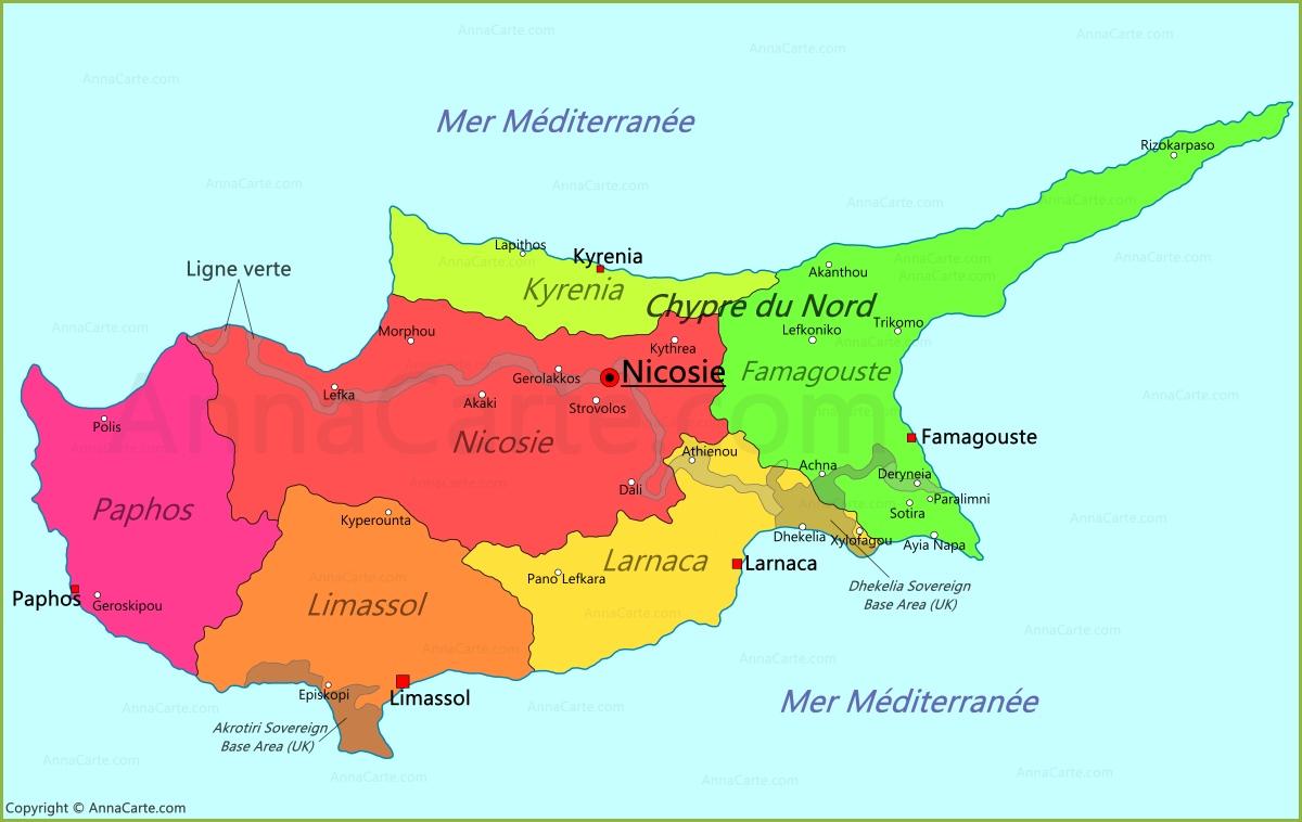 Carte Chypre Du Nord.Carte Chypre Annacarte Com