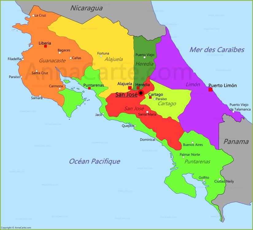costa-rica-carte-du-monde - Photo