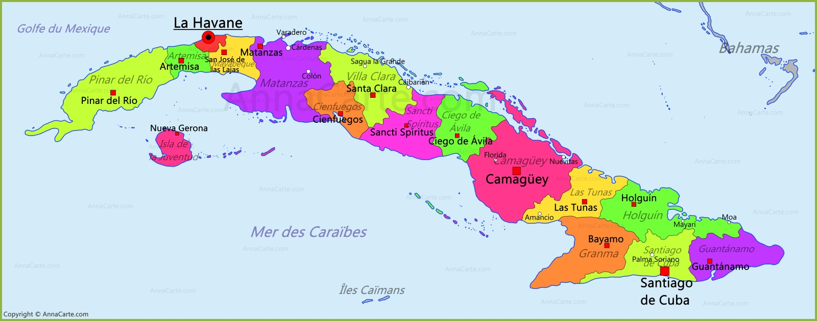 Carte Cuba   AnnaCarte.com