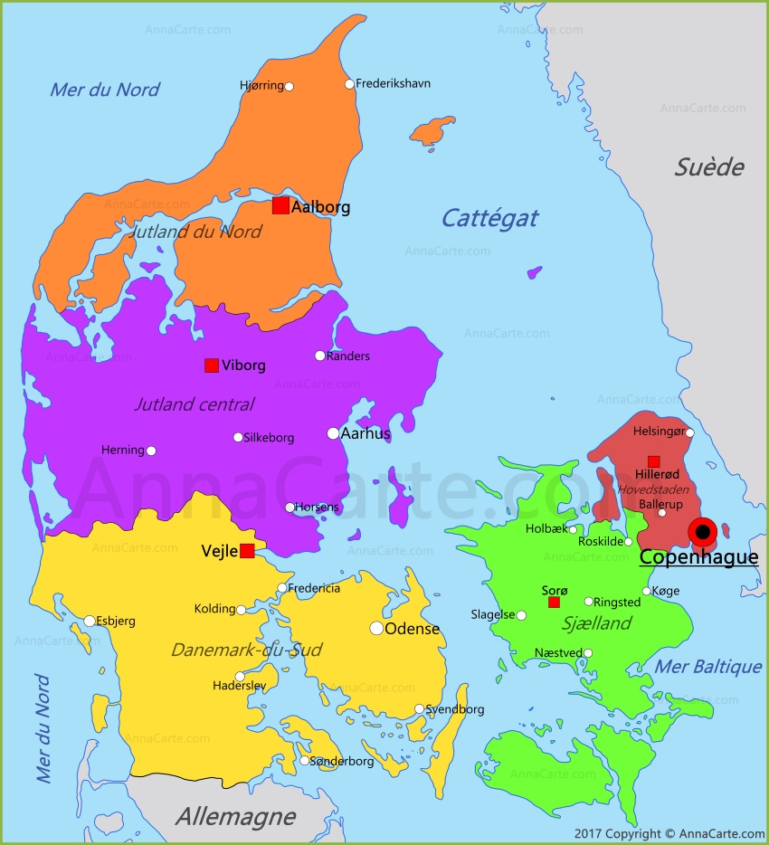 Danemark carte