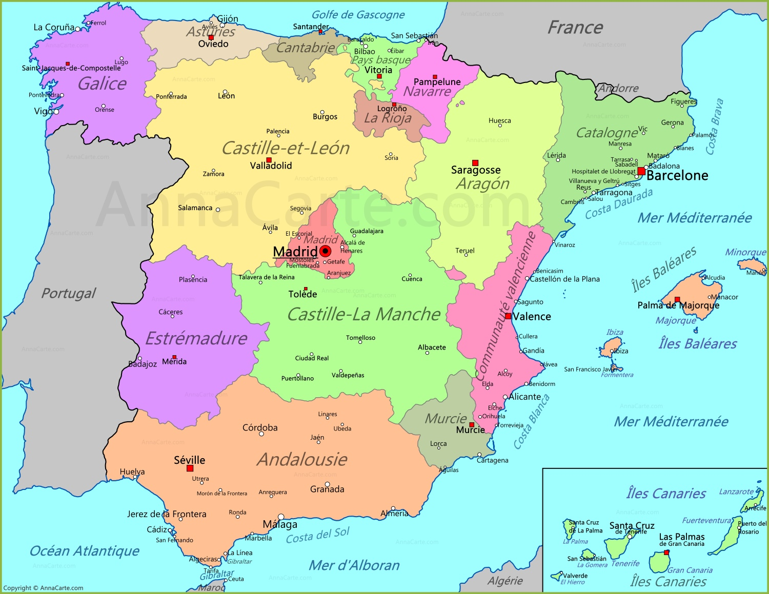 carte-espagne - Photo