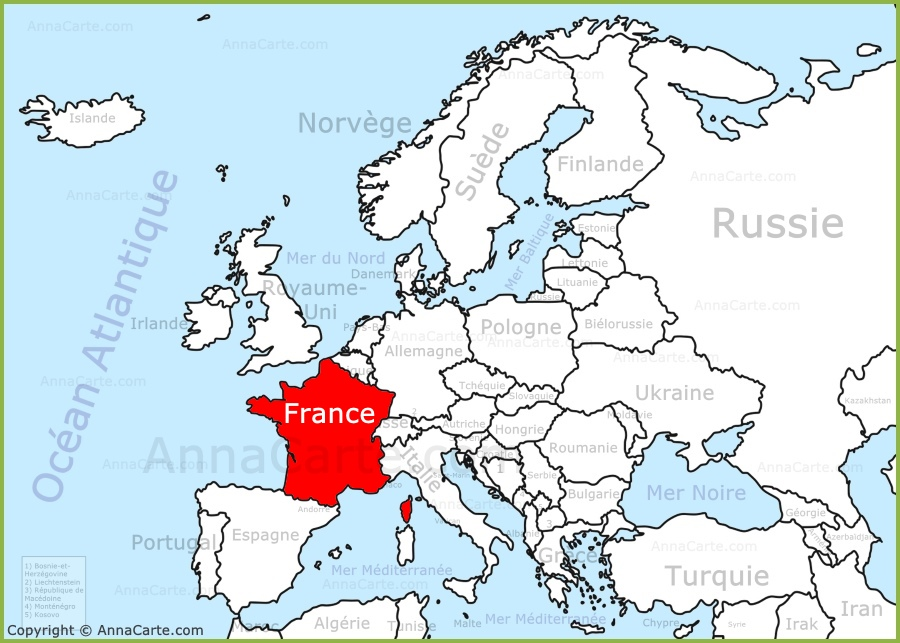 carte europe france