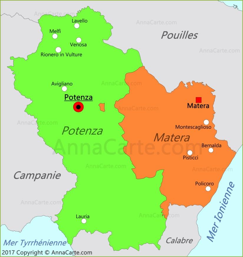 Carte de Basilicate