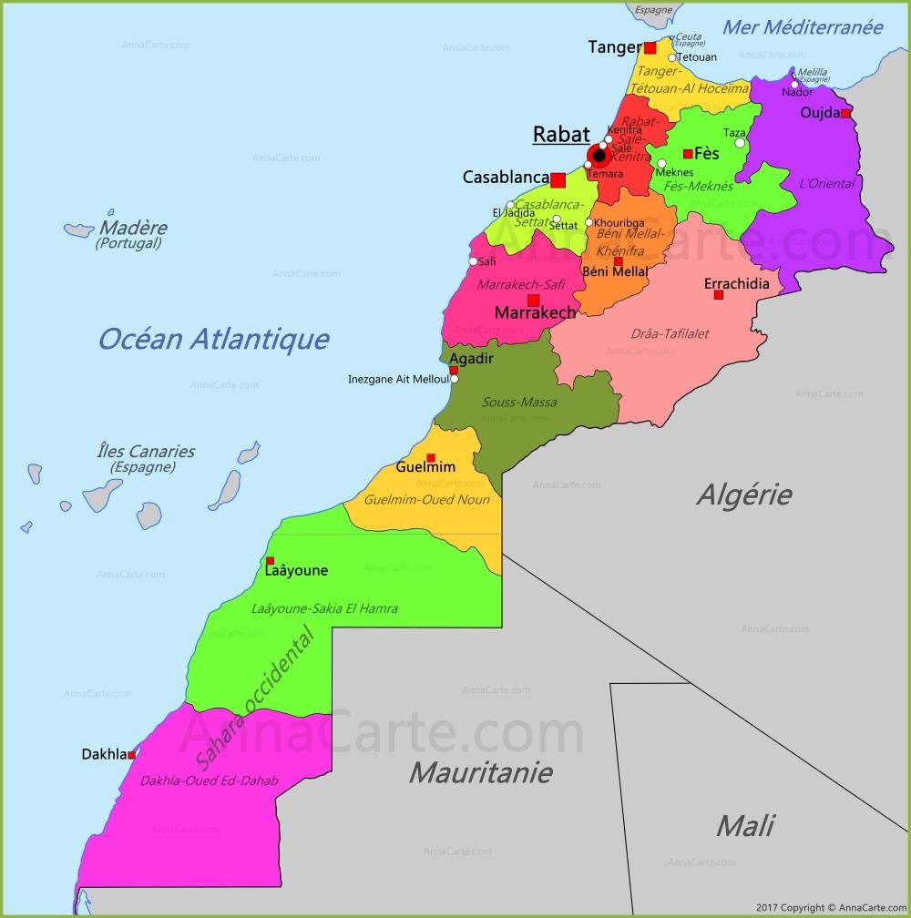 la-carte-marocaine