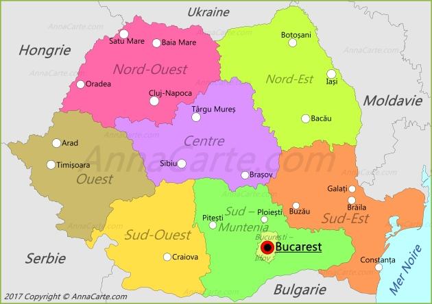 Carte Roumanie - AnnaCarte.com
