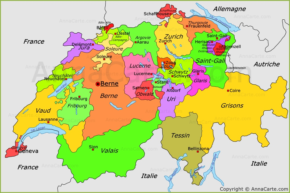 carte-de-la-suisse - Photos